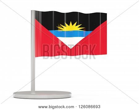 Pin With Flag Of Antigua And Barbuda
