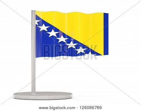 Pin With Flag Of Bosnia And Herzegovina