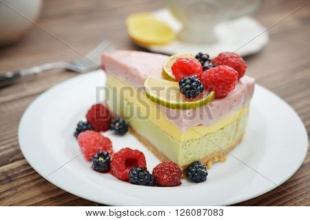 Piece Of Berry Cheesecake