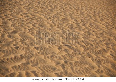 ridhes of sand, red sand dune, sand hill in Muine, Vietnam