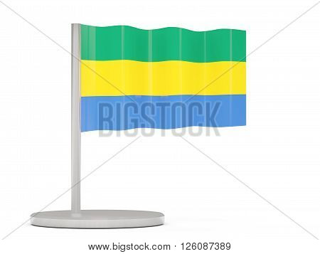 Pin With Flag Of Gabon