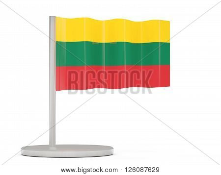 Pin With Flag Of Lithuania