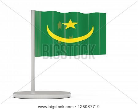 Pin With Flag Of Mauritania