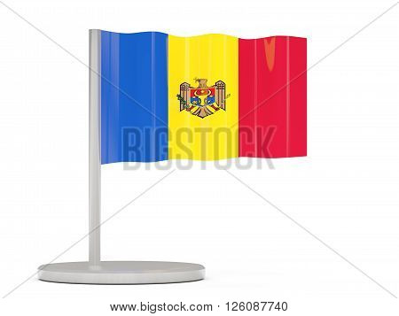 Pin With Flag Of Moldova