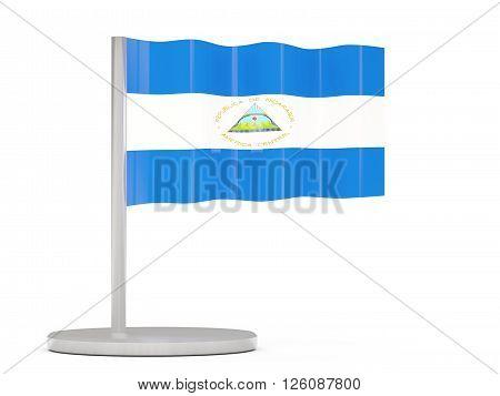 Pin With Flag Of Nicaragua