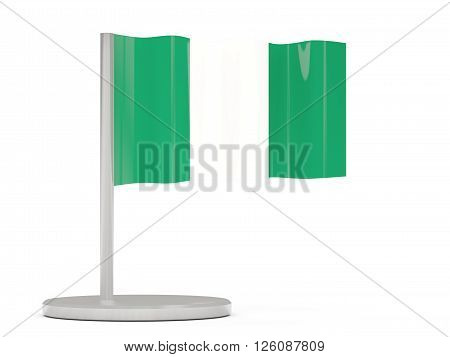 Pin With Flag Of Nigeria