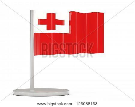 Pin With Flag Of Tonga