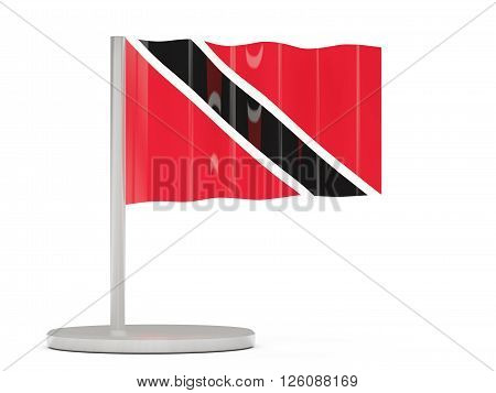 Pin With Flag Of Trinidad And Tobago