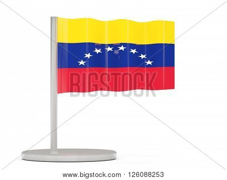 Pin With Flag Of Venezuela