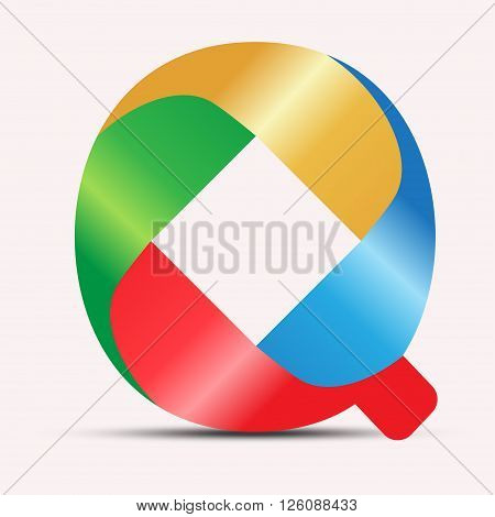 A colorful Letter of Q vector logo design. Best of use your business identity, web icon and education.