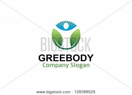 Green Body Creative And Symbolic Logo Design Illustration