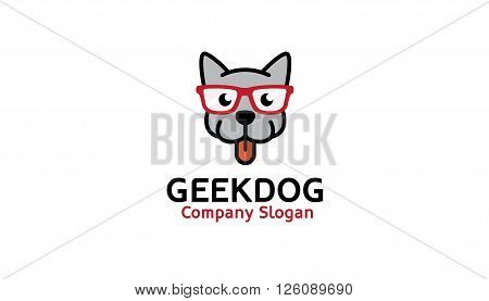 Geek Dog Creative And Symbolic Logo Design Illustration