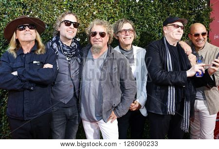 Daxx Nielsen, Tom Petersson, Michael Anthony, Robin Zander and Sammy Hagar at the John Varvatos 13th Annual Stuart House Benefit held at the John Varvatos in West Hollywood, USA on April 17, 2016.