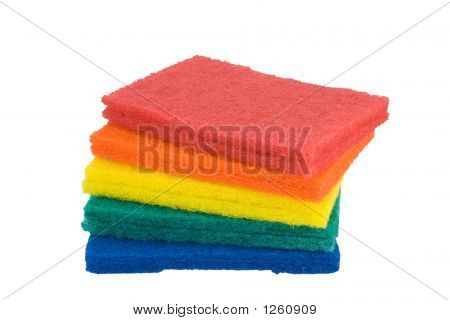 Stack Of Scrub Pads