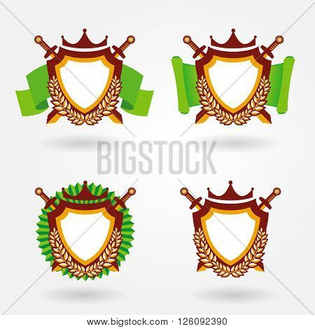 blazon design set, logo design emblem heraldic