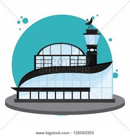 airport concept with icon design, vector illustration 10 eps graphic.