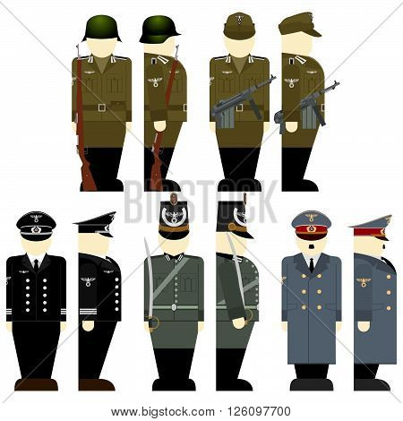 The soldiers of the Wehrmacht times the 2nd World War-1