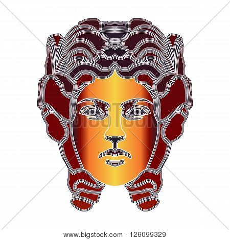 Bright colorful woman zodiac Virgo sign for astrological predestination and horoscope