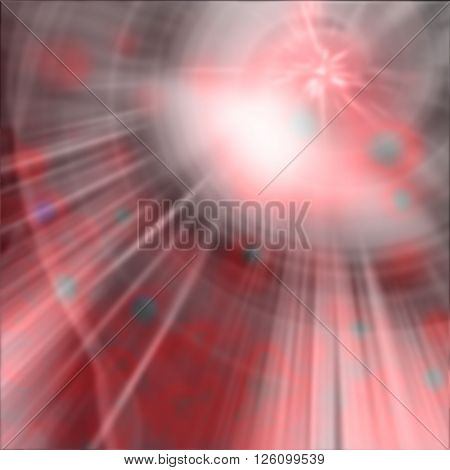 Beautiful abstract fantasy background soft blurred rays of light speed effect bokeh lights