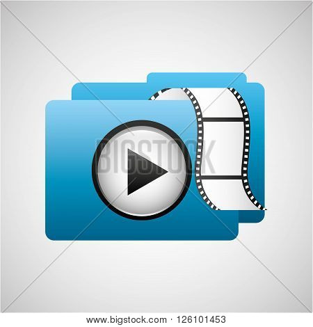media player interface design, vector illustration eps10 graphic