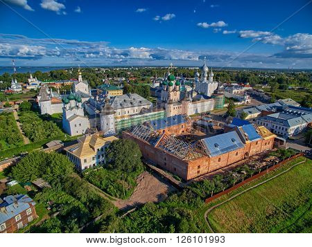 Aerial View of Rostov the Great, Part of Golden Ring of Russia