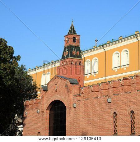 image of many Kremlin tower on sky background