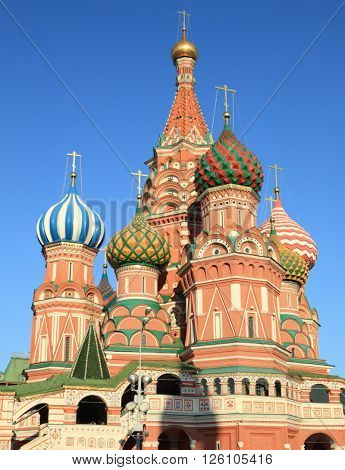 image of one blessed Basil cathedral at day