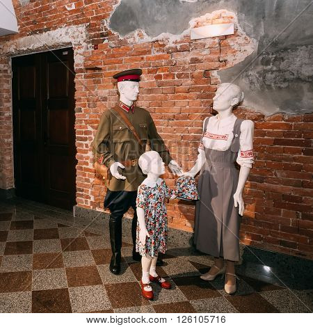 Brest, Belarus - December 27, 2015: Brest Fortress Museum, Belarus. It is one of the most important Soviet WWII monuments commemorating Soviet resistance against the German invasion on June 22, 1941.
