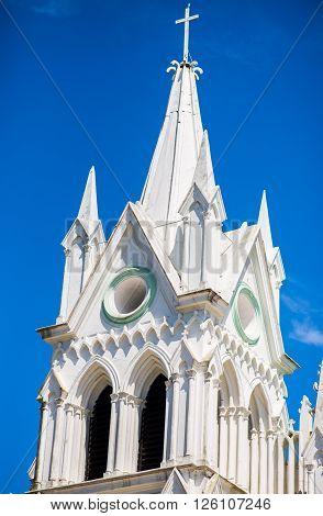 San Isidro Catholic Church in a sunny day