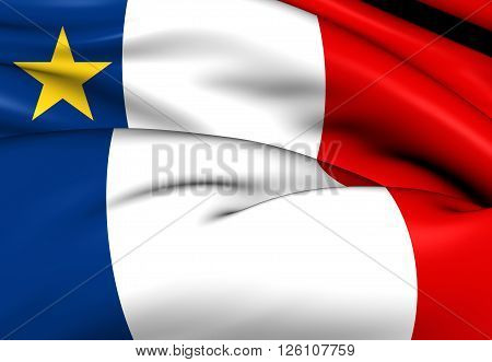 Flag Of Acadia, Canada.