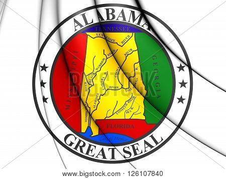 State Seal Of Alabama, Usa.