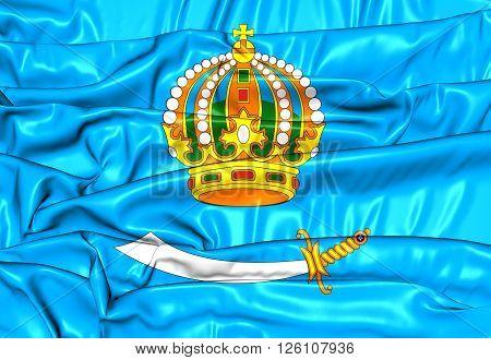 Flag Of Astrakhan Oblast, Russia.