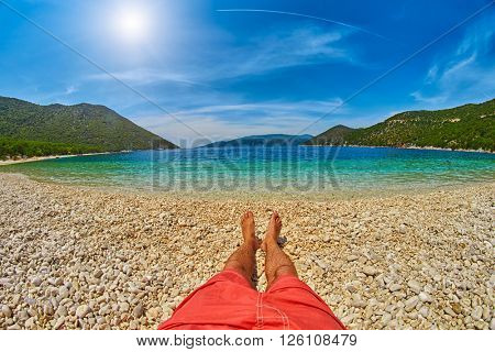 Relaxing on Exotic Beach