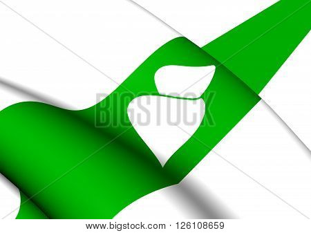 Flag Of Kurgan Oblast, Russia.