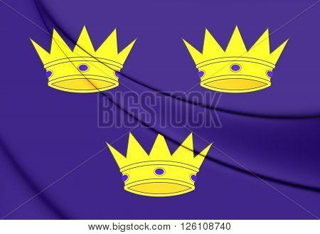 Flag Of Munster Province, Ireland.