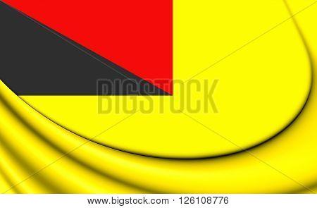 Flag Of Negeri Sembilan, Malaysia.