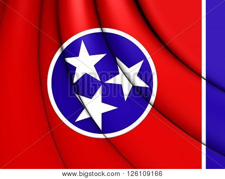 Flag Of Tennessee, Usa.