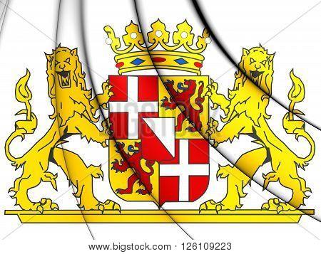 Utrecht Province Coat Of Arms, Netherlands.