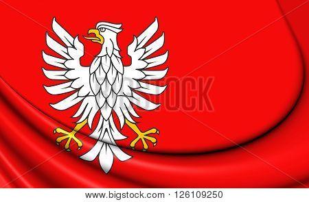 Flag Of Masovian Voivodeship, Poland.