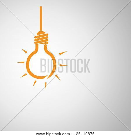 Light bulb - vector illustration. Light bulb - abstract background. Abstract background with light bulb. One light bulb on light background.