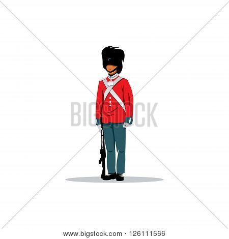 British army guard of honor on a white background.