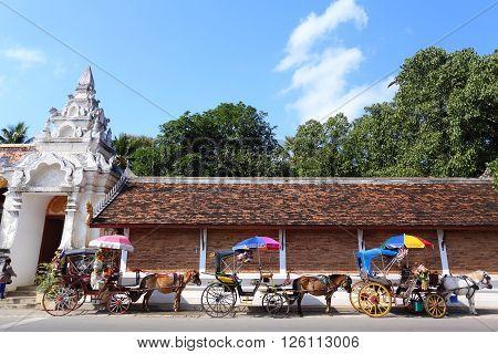 Landau in Lampang at Thailand in Asia