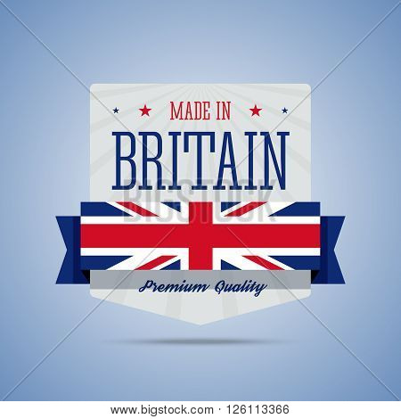 Made in Britain, United Kingdom badge. Colorful label for Britain, UK products. Vector illustration in flat style.
