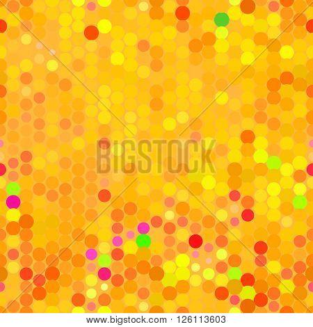 Seamless orange dot pattern