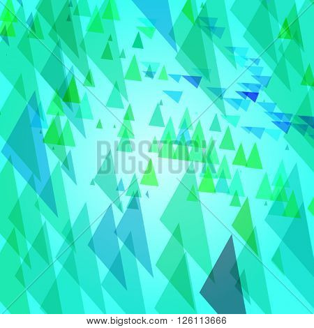Abstract background with triangular elements