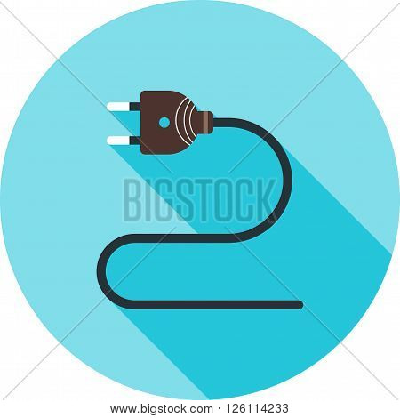 Cable, wires, wiring icon vector image. Can also be used for tools. Suitable for use on web apps, mobile apps and print media.