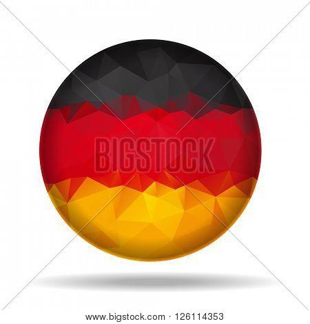 Round Germany Flag