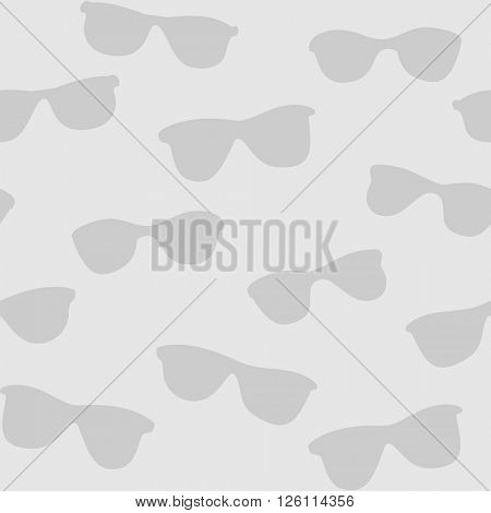 Seamless gray background with sunglasses