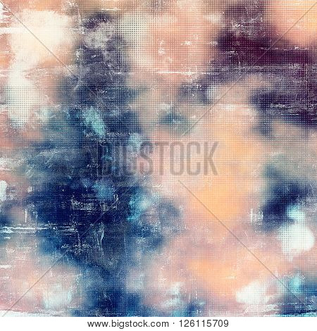 Old abstract texture used as shabby grungy background. With different color patterns: yellow (beige); blue; purple (violet); pink; white; cyan