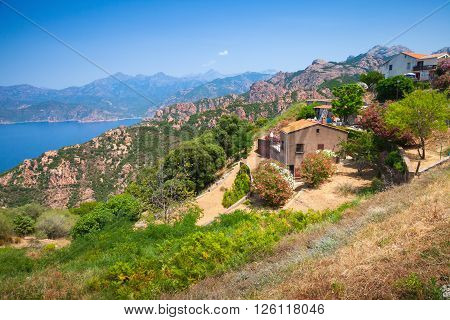 Landscape Of Piana, South Corsica, France
